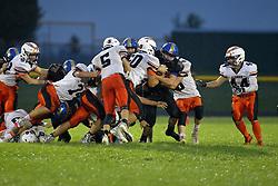 7 September 2018: #34  Fisher Bunnies at Tri Valley Vikings football, Downs Illinois<br /> <br /> #bestlookmagazine #alphoto513 #IHSA #IHSAFootball  #HOIConference  #ikingsTV3  #FisherBunnies