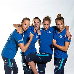 02-07-2018 NED: EC Beach teams Netherlands, The Hague<br /> Madelein Meppelink NED, Jolien Sinnema NED, Sanne Keizer NED, Laura Bloem NED