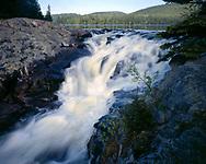 Rainbow Falls Provincial Park, Ontario, Canado, June, 1987, 7 PM.