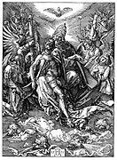 The Trinity (The Throne of Grace). Woodcut by Albrecht Durer, 1511.