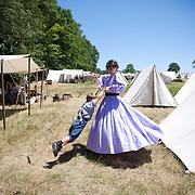 Reenactors at the 147th annual Gettysburg Civil War battle reenactment in Gettysburg, Pennsylvania.