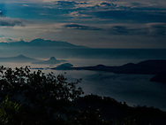 Dull landscape of lake Taal, Luzon Island, Philippines, Southeast Asia, 2016