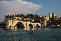 """The Pont d'Avignon - According to the legend, the bridge Pont Saint Benezet was built by Benezet a shepherd who heard voices telling him to build a bridge in Avignon. The bridge was completed in 1185 - at the time the only place to cross the Rhone between Lyon and the Mediterranean. The bridge originally spanned 900 meters and had 22 arches. Today, all that remains are four arches. The bridge is famous thanks to the song """"Sur le pont d'Avignon"""" the modern version of which was written by Adolphe Adam who is best known for the music for Giselle."""