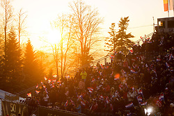 """Fans during FIS Alpine Ski World Cup 2016/17 Ladies Slalom race named """"Snow Queen Trophy 2017"""", on January 3, 2017 in Course Crveni Spust at Sljeme hill, Zagreb, Croatia. Photo by Ziga Zupan / Sportida"""