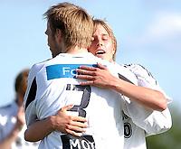 Fotball NM 3. runde Byåsen - Rosenborg 1-8<br /> Per Ciljan Skjelbred og Erik Hoftun, det var Hoftun som fikk hull på det hele etter 27 målløse minutter<br /> Foto: Carl-Erik Eriksson, Digitalsport