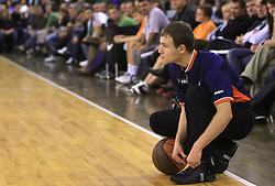Referee at basketball match of 3rd Round of Euroleague between KK Union Olimpija (SLO) and Lottomatica Roma (ITA), in Arena Tivoli, Ljubljana, Slovenia, on November 6, 2008. Lottomatica  won the match 78:67.