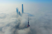 Shanghai Shrouded In Fog