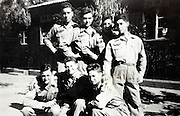 soldiers posing outside there barrack France 1946