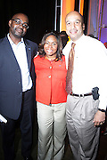 l to r: Earl Lucas, Crystal Worthem and Mayor Ray Nagin at The Essence Music Festival Community Outreach Program held at The Ernest Morial Convention Center on July 2, 2009 in New Orleans, Louisiana