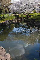 Kyu Shiba Rikyu Garden features the typical elements of a Japanese landscape garden including a pond and man-made hills symbolizing the ocean, lakes and mountains of the real world and walking trails to enjoy the garden from various perspectives..During the Edo Period, the garden was built on land reclaimed from Tokyo Bay and served as the residence of various feudal lords and government officials.