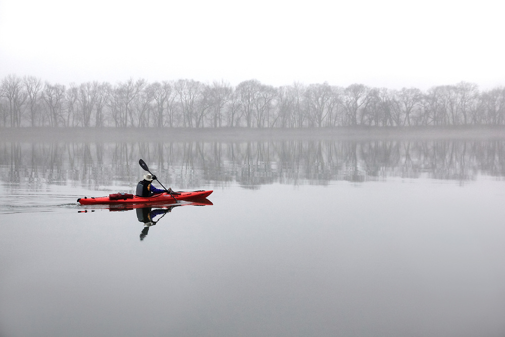Foggy Paddle on the Potomac