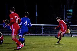 BANGOR, WALES - Tuesday, November 20, 2018: Wales' Sam Bowen scores the second goal during the UEFA Under-19 Championship 2019 Qualifying Group 4 match between Wales and San Marino at the Nantporth Stadium. (Pic by Paul Greenwood/Propaganda)