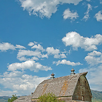 An old barn decays on the edges of Bozeman, Montana.