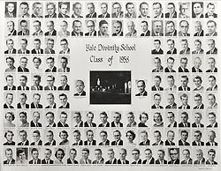1958 Yale Divinity School Senior Portrait Class Group Photograph