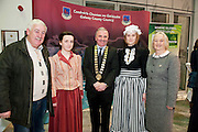 Galway launches 200 Gatherings ! Come home to Irelands Cultural Heart  with help of Fohenagh Immigrant Weekend Frank Gavin Sarah Gavin Sarah Bartle  at Aras An Contae. Picture Andrew Downes.