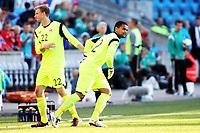 Fotball , 11. juni 2013 , Privatkamp , Norge - Makedonia<br /> Norway - FYR Macedonia 2-0<br /> <br /> Andre Hansen bytter med Sten Grytebust ,  Norge