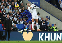 Leicester City's Demarai Gray and Burnley's Matthew Lowton<br /> <br /> Photographer Rachel Holborn/CameraSport<br /> <br /> The Premier League - Saturday 10th November 2018 - Leicester City v Burnley - King Power Stadium - Leicester<br /> <br /> World Copyright © 2018 CameraSport. All rights reserved. 43 Linden Ave. Countesthorpe. Leicester. England. LE8 5PG - Tel: +44 (0) 116 277 4147 - admin@camerasport.com - www.camerasport.com