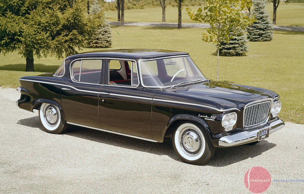 A factory promotional image of a 1961 Studebaker Lark Cruiser.