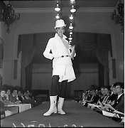 13/11/1967<br /> 11/13/1967<br /> 13 November 1967<br /> Irish Leather Federation, Leather Fashions at the Gresham Hotel, Dublin.<br /> Culotte Suit in Pittards, white leather by Vard & Vince.