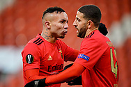 Everton of Benfica celebrating goal (1-1) with Adel Taarabt during the UEFA Europa League, Group D football match between Standard de Liege and SL Benfica on December 10, 2020 at Maurice Dufrasne stadium in Liege, Belgium - Photo Jeroen Meuwsen / Orange Pictures / ProSportsImages / DPPI