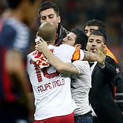 Galatasaray's Supporters fans during their Turkish Superleague soccer match Galatasaray between Mersin Idman Yurdu at the AliSamiYen Spor Kompleksi at Aslantepe in Istanbul Turkey on Saturday 06 April 2013. Photo by Aykut AKICI/TURKPIX