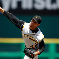 01 June 2007:  Pittsburgh Pirates pitcher Ian Snell (45) pitches in the 4th inning against the Washington Nationals.  Snell struck out seven in 7 innings of work as the Pirates defeated the Nationals 3-2 at RFK Stadium in Washington, D.C.  ****For Editorial Use Only****