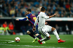 March 2, 2019 - Madrid, MADRID, SPAIN - Lionel (Leo) Messi of FC Barcelona and Casemiro of Real Madrid during the spanish league, La Liga, football match played between Real Madrid and FC Barcelona at Santiago Bernabeu Stadium in Madrid, Spain, on March 02, 2019. (Credit Image: © AFP7 via ZUMA Wire)