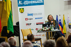Tina Maze, overall skiing globe winner 2013 during Introducing almanac at anniversaty for 40 years of skiing competition Pokal Loka in Sokolski dom, Skofja Loka, Slovenia on 9 December 2015. Photo By Grega Valancic / Sportida