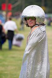 "© Licensed to London News Pictures . 24/08/2012 . Leeds , UK . Paul Burman (aka "" Disco Balls "") from Newcastle at the Leeds Festival in Bramham Park . Photo credit : Joel Goodman/LNP"