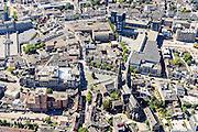 Nederland, Noord-Brabant, Tilburg, 23-08-2016; centrum van Tilburg, omgeving St. Jozef  kerk, Heuvel, Hendrikhof, Piusplein.<br /> City centre.<br /> luchtfoto (toeslag op standard tarieven);<br /> aerial photo (additional fee required);<br /> copyright foto/photo Siebe Swart