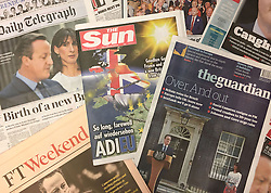 """File photo dated 25/06/16 of the front pages of UK newspapers, as the Independent Press Standards Organisation (Ipso), a watchdog set up to regulate press standards, is an effective regulator that is taken """"very seriously"""" by editors, an independent review has found."""