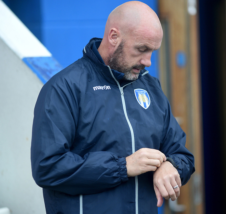 Colchester United manager John McGreal <br /> <br /> Photographer Hannah Fountain/CameraSport<br /> <br /> The EFL Sky Bet League Two - Colchester United v Mansfield Town - Saturday 7th October 2017 - Colchester Community Stadium - Colchester<br /> <br /> World Copyright © 2017 CameraSport. All rights reserved. 43 Linden Ave. Countesthorpe. Leicester. England. LE8 5PG - Tel: +44 (0) 116 277 4147 - admin@camerasport.com - www.camerasport.com