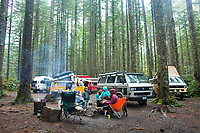 Van camping. Oregon