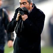 Besiktas's coach Samet Aybaba during their Turkish superleague soccer match Besiktas between Kardemir Karabukspor at BJK Inonu Stadium in Istanbul Turkey on Friady, 01 February 2013. Photo by TURKPIX