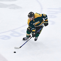 2nd year forward, Zak Zborosky (32) of the Regina Cougars during the Men's Hockey Home Game on Fri Oct 12 at Co-operators Center. Credit: Arthur Ward/Arthur Images