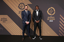 March 19, 2018 - Lisbon, Lisbon, Portugal - Portugals goalkeeper Rui Patricio (L) and Portugal's midfielder William Carvalho (R) poses on arrival at 'Quinas de Ouro' 2018 ceremony held and the Pavilhao Carlos Lopes in Lisbon, on March 19, 2018. (Credit Image: © Dpi/NurPhoto via ZUMA Press)