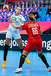 Emily Bolk of Germany during the Women's EHF Euro 2020 match between Germany and Poland at Sydbank Arena on december 07, 2020 in Kolding, Denmark (Photo by RHF Agency/Ronald Hoogendoorn)