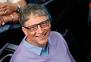 Microsoft founder Bill Gates waits to play table tennis as part of the Berkshire Hathaway annual meeting weekend in Omaha, Nebraska, U.S. May 7, 2017. REUTERS/Rick Wilking