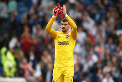 Brighton & Hove Albion goalkeeper Mathew Ryan applauds the fans after the final whistle