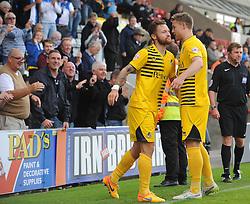 Matty Taylor & James Clarke - Mandatory byline: Neil Brookman/JMP - 07966 386802 - 03/10/2015 - FOOTBALL - Globe Arena - Morecambe, England - Morecambe FC v Bristol Rovers - Sky Bet League Two