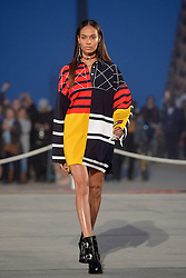 Joan Smalls walks the runway at the TommyLand Tommy Hilfiger Spring 2017 Fashion Show on February 8, 2017 in Venice, Los Angeles, CA, USA. Photo by Lionel Hahn/ABACAPRESS.COM
