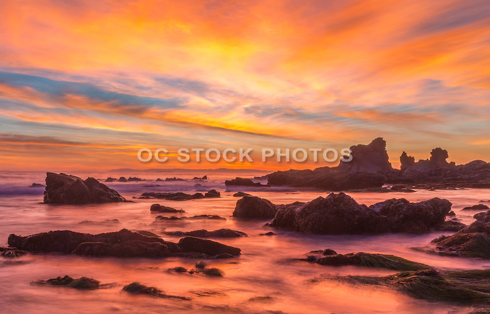 Crystal Cove State Beach at Sunset