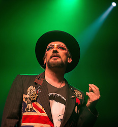 © Licensed to London News Pictures . 31/03/2014 . Manchester , UK . BOY GEORGE ( George O'Dowd ) performs at the Manchester Ritz this evening (31st March 2014) . Photo credit : Joel Goodman/LNP