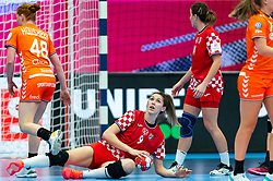 Camila Micijevic of Croatia in action during the Women's EHF Euro 2020 match between Croatia and Netherlands at Sydbank Arena on december 06, 2020 in Kolding, Denmark (Photo by RHF Agency/Ronald Hoogendoorn)