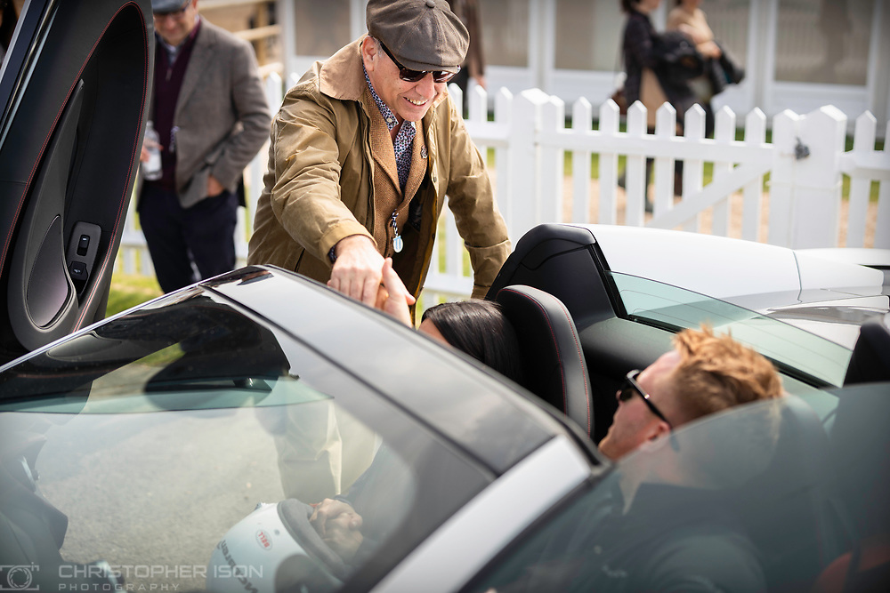 Image shot for Governors' books to be produced after 77th Member's Meeting.<br /> Picture shows Governor/guests of Governor/car of Governor Theo Paphitis.<br /> Picture date: Saturday April 6, 2019.<br /> Photograph by Christopher Ison ©<br /> 07544044177<br /> chris@christopherison.com<br /> www.christopherison.com