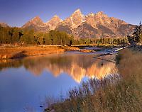 The Teton Range from the Snake River, Grand Teton National Park Wyoming USA