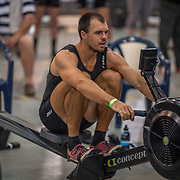 Stephen Jones 5000m Heavyweight 5K race 10:30am<br /> <br /> <br /> www.rowingcelebration.com Competing on Concept 2 ergometers at the 2018 NZ Indoor Rowing Championships. Avanti Drome, Cambridge,  Saturday 24 November 2018 © Copyright photo Steve McArthur / @RowingCelebration