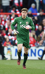 Bristol City goalkeeper, Frank Fielding - Photo mandatory by-line: Paul Knight/JMP - Mobile: 07966 386802 - 25/01/2015 - SPORT - Football - Bristol - Ashton Gate - Bristol City v West Ham United - FA Cup fourth round