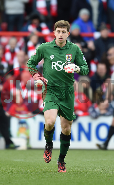 Bristol City goalkeeper, Frank Fielding - Photo mandatory by-line: Paul Knight/JMP - Mobile: 07966 386802 - 25/01/2015 - SPORT - Football - Bristol - Ashton Gate - Bristol City v West Ham United - FA Cup fourth round