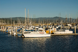 Boats in Princeton Harbor, .San Mateo Coast of California, south of San Francisco.  Photo copyright Lee Foster, 510-549-2202, lee@fostertravel.com, www.fostertravel.com. Photo 429-31231